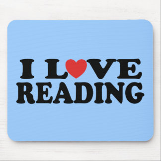 Cute I Love Reading T-shirt Mouse Pad