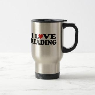 Cute I Love Reading T-shirt Mugs