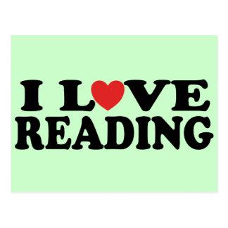 Cute I Love Reading T-shirt Postcard