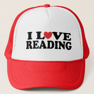 Cute I Love Reading T-shirt Trucker Hat