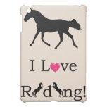 Cute I Love Riding Equestrian iPad Speck Case Cover For The iPad Mini