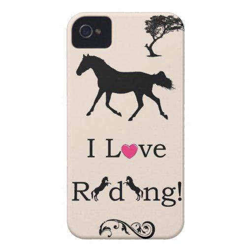 Cute I Love Riding! Equestrian iPhone 4/4S Case iPhone 4 Cover