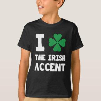 Cute I Love The Irish Accent Four Leaf Clover Prin T-Shirt