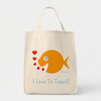 "Cute ""I Love To Teach"" Teacher's Book Bag"