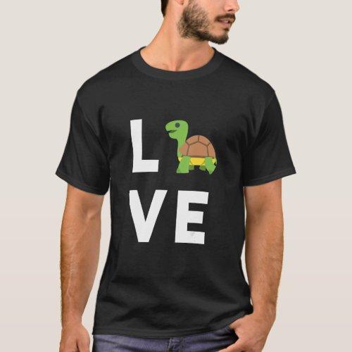 Cute I Love Turtles Gift Funny Turtle Lover Kids G T_Shirt