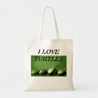 Cute I Love Turtles Sunning Tote Bag