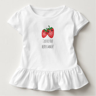 Cute I Love You Berry Much Kawaii Strawberry Baby Toddler T-shirt