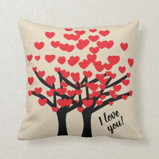 Cute I love you Love Trees Design Throw Pillow