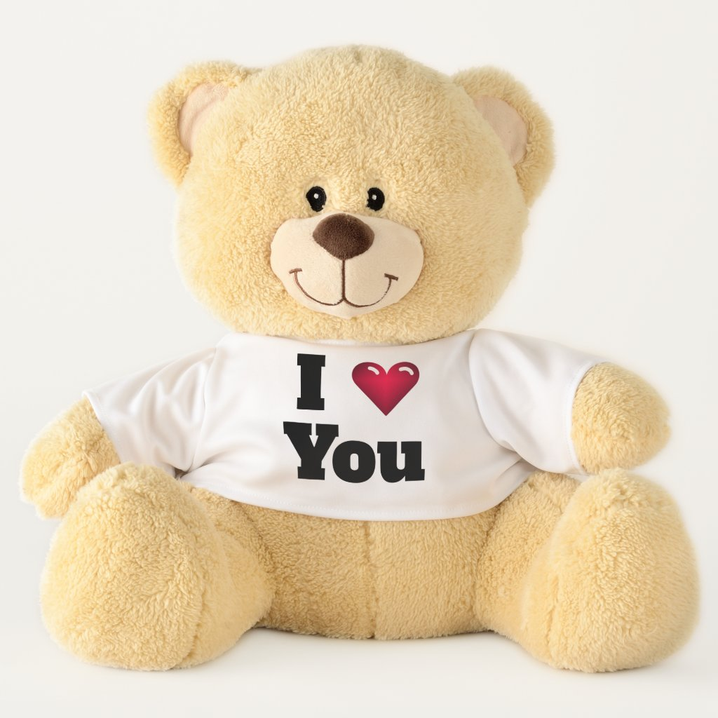 Cute I Love You Teddy Bear Gift for Her