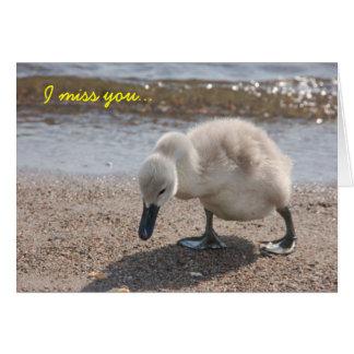 """Cute """"I miss you"""" Card"""