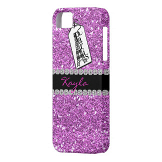 CUTE I PHONE 5 CASE THINK  PINK BLING PARIS THEME
