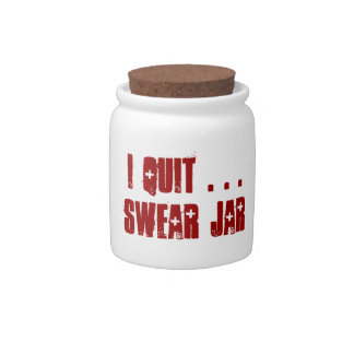 "Cute ""I Quit"" Swear Jar Spare Change Bank"