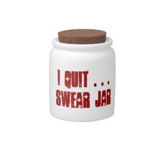 "Cute ""I Quit"" Swear Jar Spare Change Bank Candy Dish"