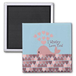 Cute I whaley Love You! design Magnet