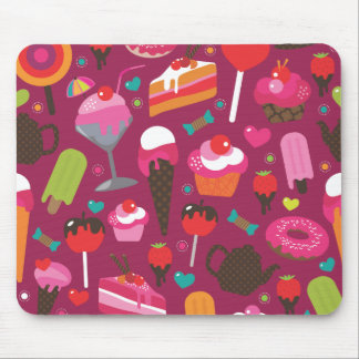 Cute ice cream candy cup cake pattern mouse pad