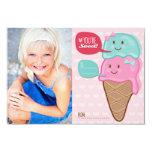 Cute Ice Cream Classroom Kids Valentine Photo Card