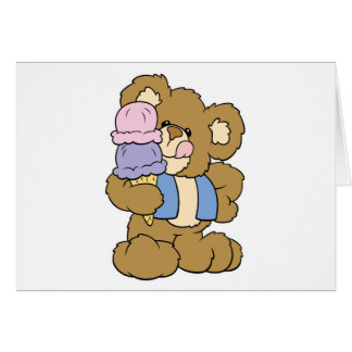 Cute Ice Cream Cone Bear Greeting Card