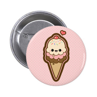 Cute Ice Cream Cone Button