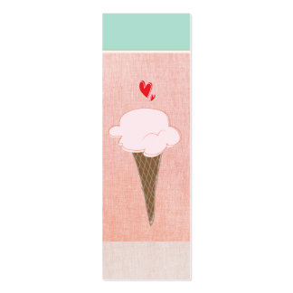 Cute Ice Cream Cone Calling Card Double-Sided Mini Business Cards (Pack Of 20)