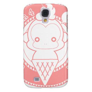 Cute Ice Cream Monkey Galaxy S4 Case
