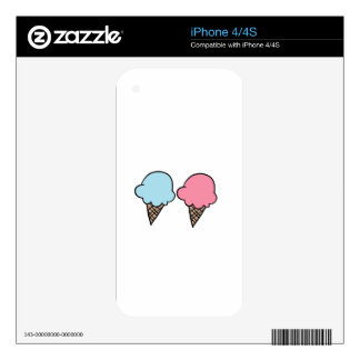 Cute Ice Cream shirts, accessories, gifts Decals For The iPhone 4