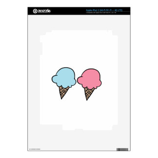 Cute Ice Cream shirts, accessories, gifts Skins For iPad 3