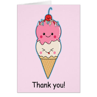 Cute Ice Cream Thank You Card