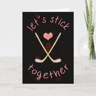 ice hockey valentine cards zazzle