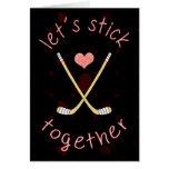 Cute Ice Hockey Valentine's Day Card