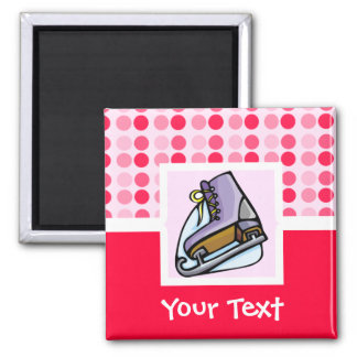 Cute Ice Skate 2 Inch Square Magnet