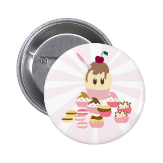 Cute icecream and cup cakes buttons