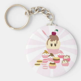 Cute icecream and cup cakes key chain