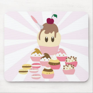 Cute icecream and cup cakes mouse pad
