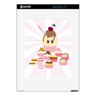 Cute icecream and cup cakes decals for iPad