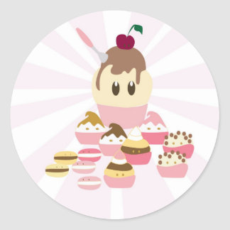 Cute icecream and cup cakes stickers