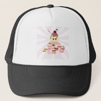 Cute icecream and cup cakes trucker hat