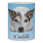 Cute iCuddle Jack Russel Dog Flameless Candle