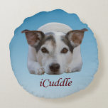 Cute iCuddle Jack Russel Dog Round Pillow