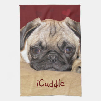 Cute iCuddle Pug Puppy Hand Towel