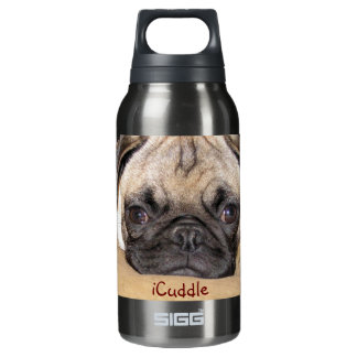 Cute iCuddle Pug Puppy Insulated Water Bottle