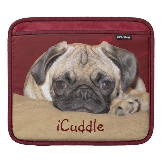 Cute iCuddle Pug Puppy iPad Sleeve