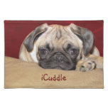 Cute iCuddle Pug Puppy Placemat