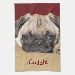 Cute iCuddle Pug Puppy Towel
