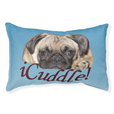 Valentines Themed Cute iCuddle PugPuppy Dog Pet Bed
