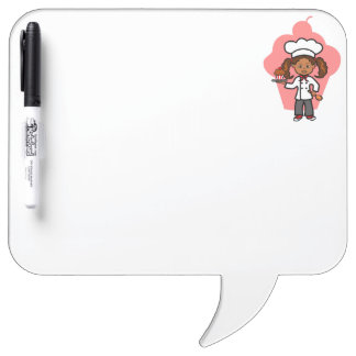 Cute Illustration Female Chef Dry Erase Board