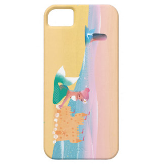 Cute illustration of mermaids' day on the Beach iPhone SE/5/5s Case