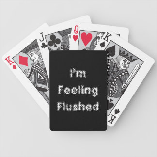 Cute I'm Feeling Flushed Playing Cards