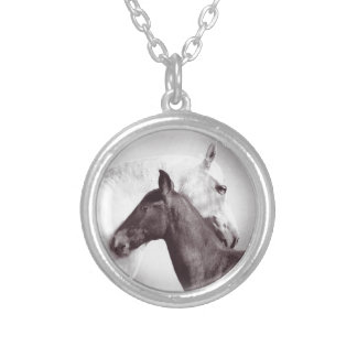 Cute Image of white andalusian mare and black foal Jewelry