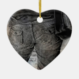 Cute In Jeans Gifts Ceramic Ornament