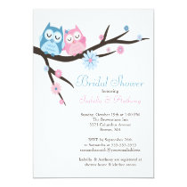 Cute in love Owl Couple Bridal Shower Card